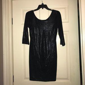 As U Wish Dresses - Black 3/4 length Dress